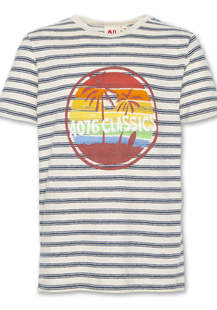 AO76 T-shirt c-neck Classics Blue