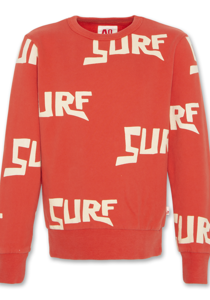 AO76 c-neck Sweater Surf Red