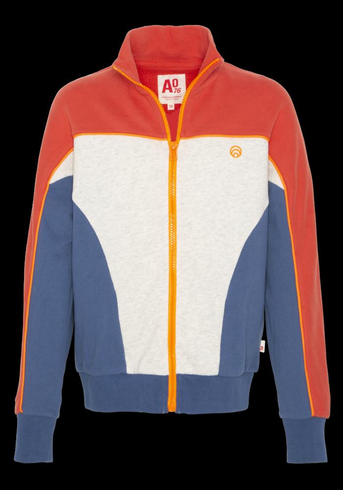 AO76 Mockneck Sweater Block Red