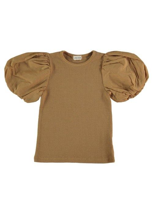 My Little Cozmo My Little Cozmo Julia Organic Rib Kids T-Shirt Peanut
