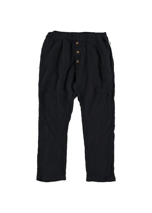My Little Cozmo My Little Cozmo Liam Organic Bobble Kids Trousers Dark Blue