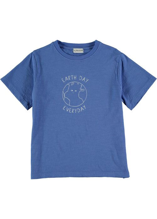 My Little Cozmo My Little Cozmo Poet Organic Flame Kids T-Shirt Royal Blue