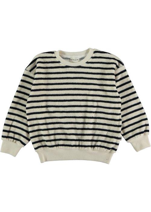 My Little Cozmo My Little Cozmo Tyler Organic Towelling Kids Sweater Dark Blue