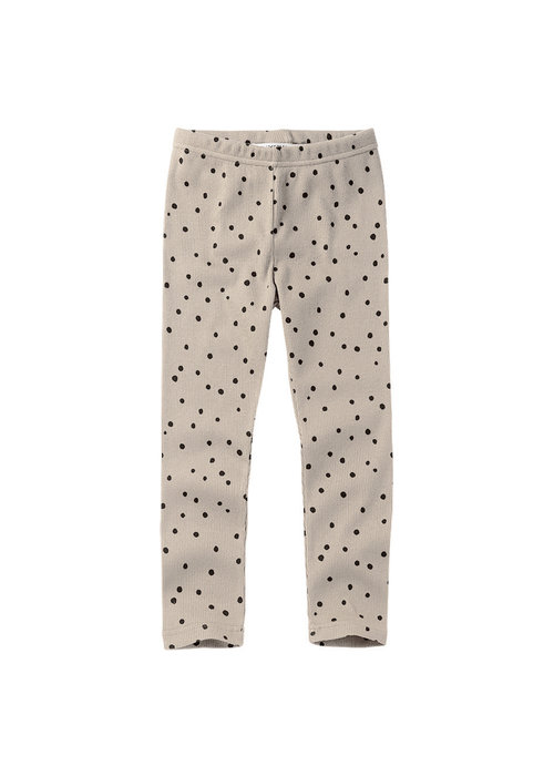 Mingo Mingo Legging Dot Black/White Rib