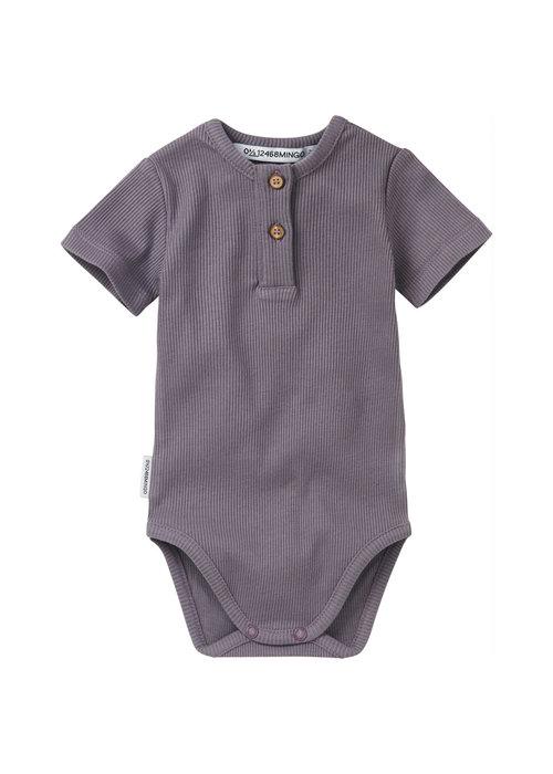 Mingo Mingo Bodysuit Short Sleeves Rib Lavender
