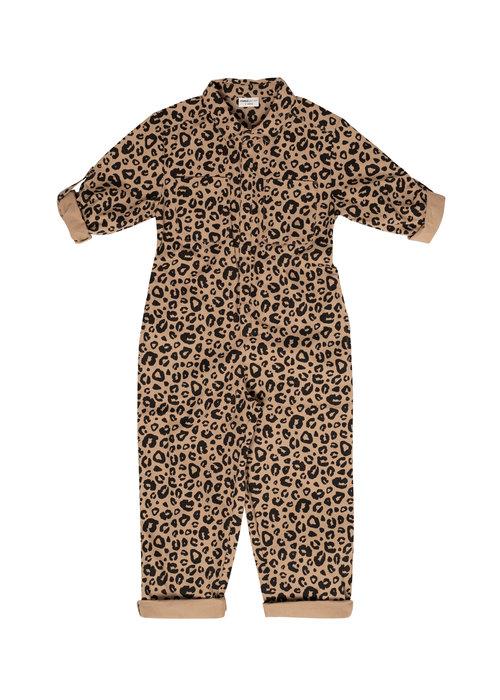 Maed for Mini Maed for Mini Caramel Leopard Jumpsuit