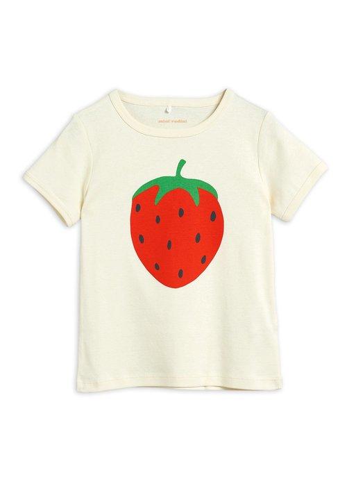 Mini Rodini Mini Rodini Strawberry sp ss Tee Offwhite