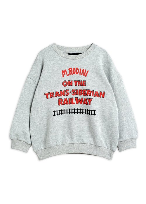Mini Rodini Mini Rodini Transsiberian sp Sweatshirt Grey Melange