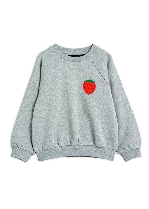 Mini Rodini Mini Rodini Strawberry emb Sweatshirt Grey Melange