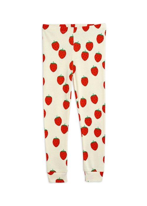 Mini Rodini Mini Rodini Strawberry aop Leggings Offwhite