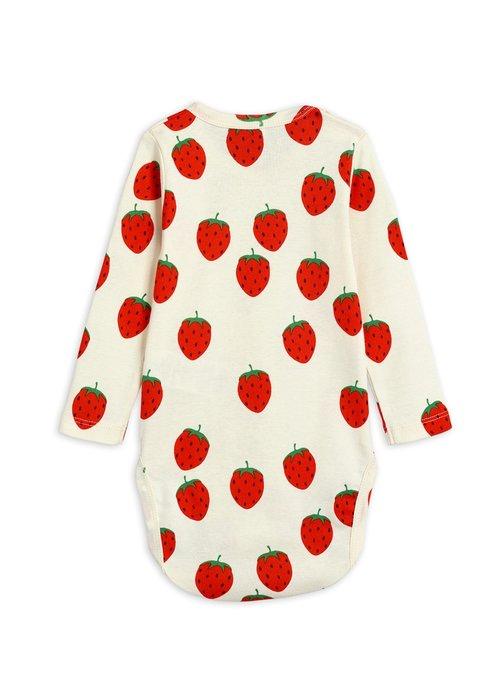 Mini Rodini Mini Rodini Strawberry aop LS body