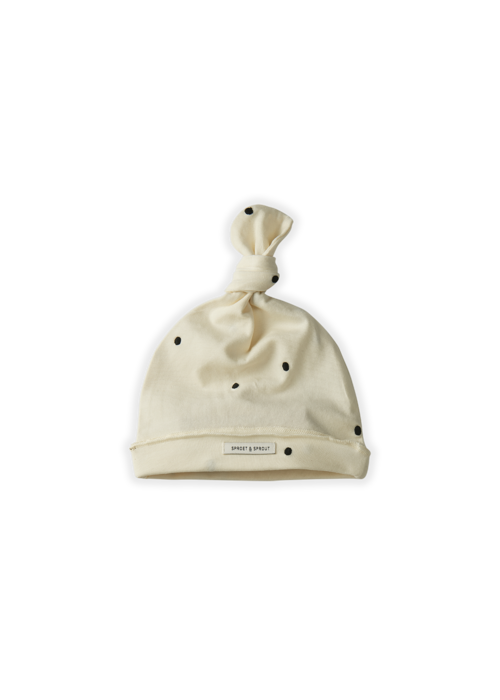 Sproet & Sprout Sproet & Sprout Baby Beanie Dots Off White