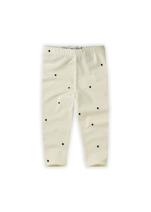 Sproet & Sprout Sproet & Sprout Legging Dots Off White