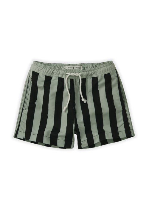 Sproet & Sprout Sproet & Sprout Swim Short Painted Stripe Eucalyptus