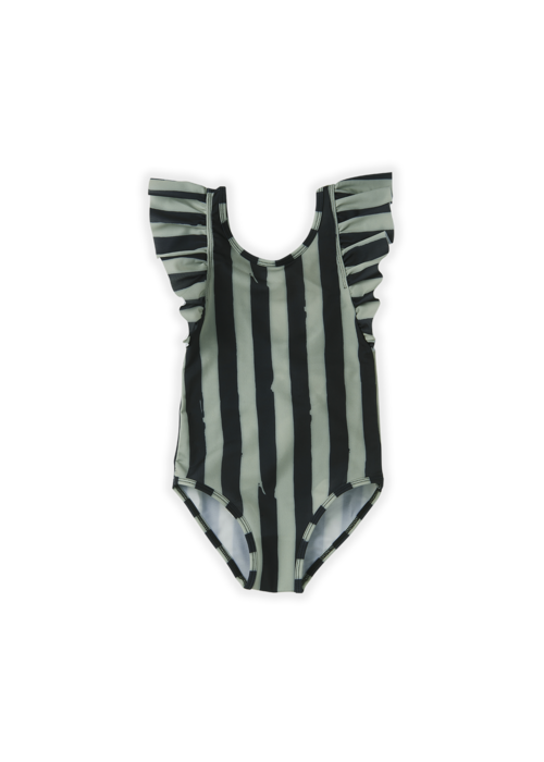 Sproet & Sprout Sproet & Sprout Bathing Suit Painted Stripe Eucalyptus