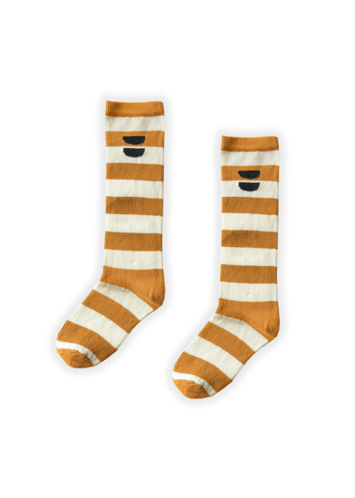 Sproet & Sprout Sproet & Sprout High Socks Stripe Desert
