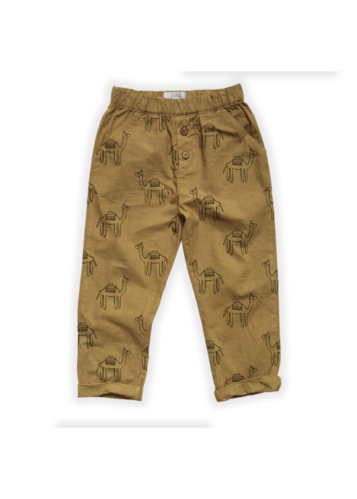Sproet & Sprout Sproet & Sprout Woven Pants Camel Print