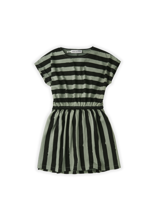 Sproet & Sprout Sproet & Sprout Skater Dress Painted Stripe Eucalyptus