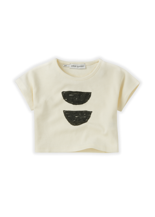 Sproet & Sprout Sproet & Sprout T-shirt Cropped Abstract Summer White