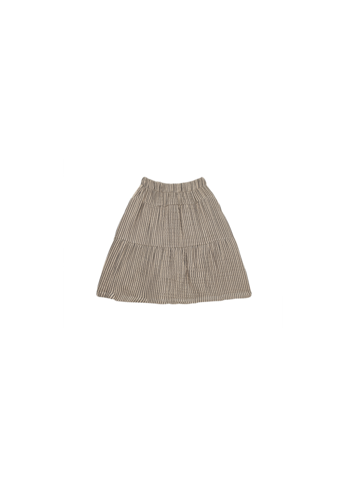House of Jamie House of Jamie Midi Skirt Charcoal Sheer Stripes