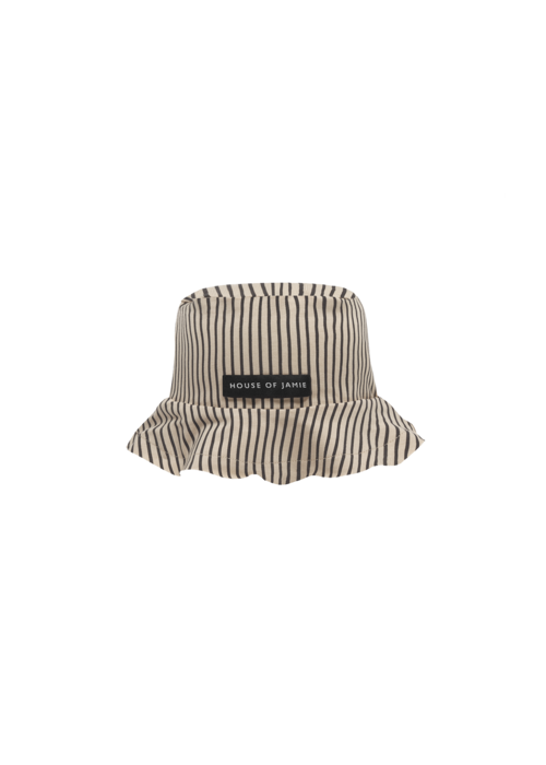 House of Jamie House of Jamie Summer Hat Charcoal Sheer Stripes