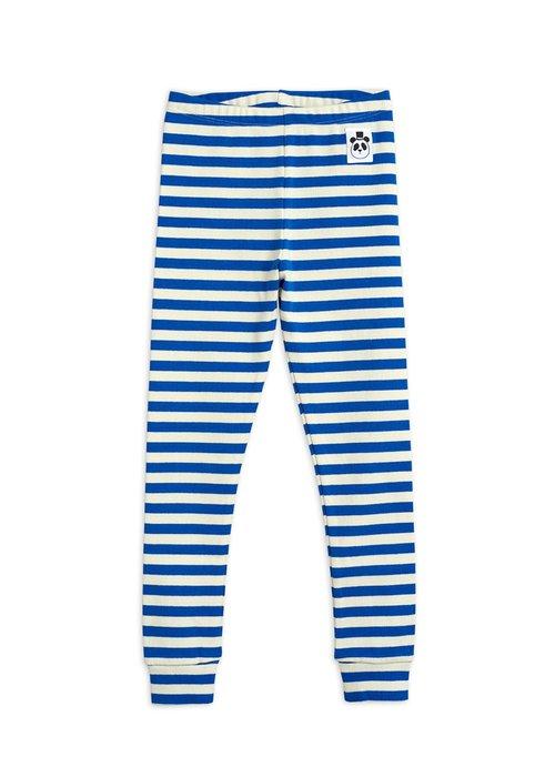 Mini Rodini Mini Rodini Stripe Rib Leggings Blue