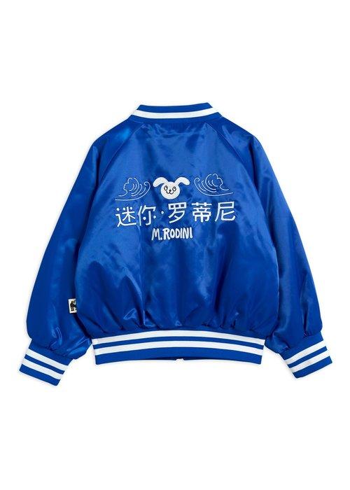 Mini Rodini Mini Rodini Satin Baseball Jacket Blue
