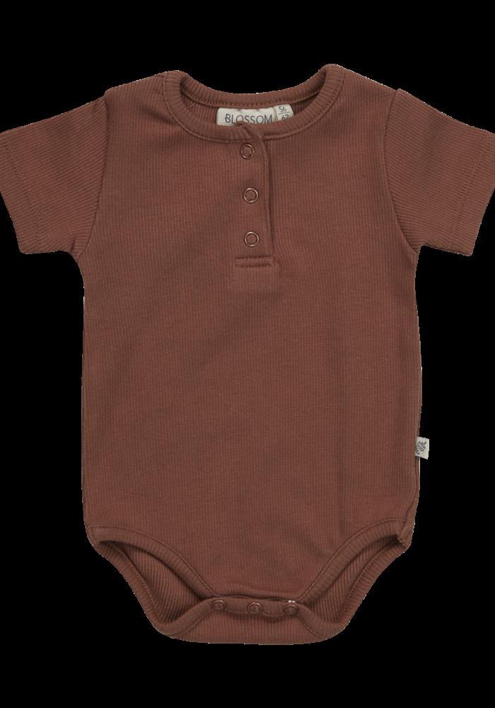 Blossom Kids Body Short Sleeve With Buttons Hazelnut