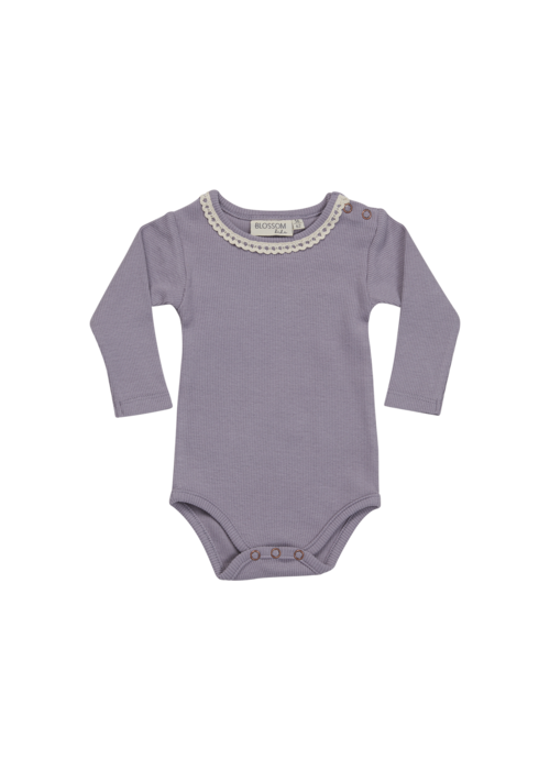 Blossom Kids Blossom Kids Body Long Sleeve with lace Lavender Blue