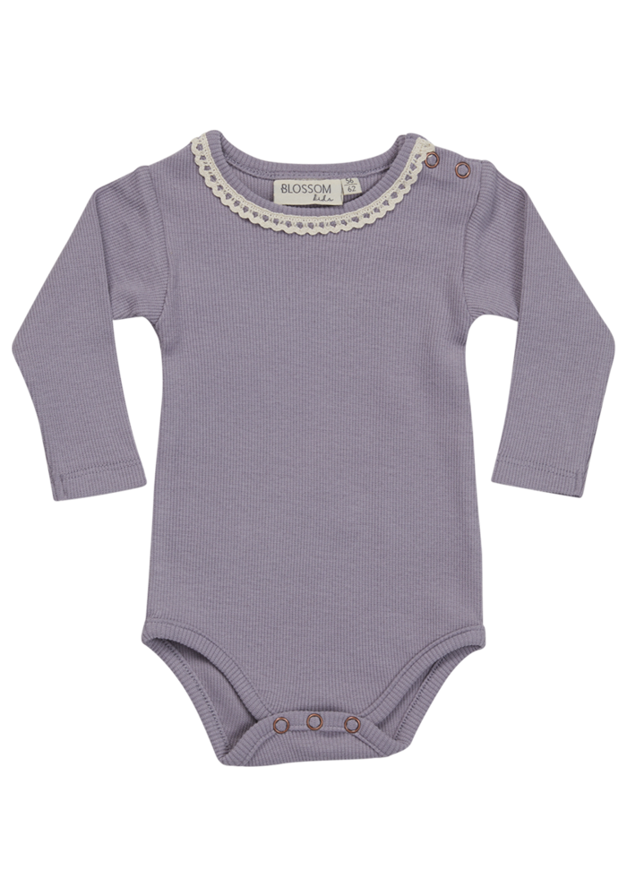 Blossom Kids Body Long Sleeve with lace Lavender Blue