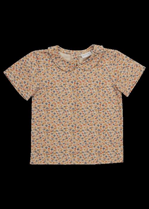 Blossom Kids Blossom Kids Peterpan shirt short sleeve Aquarel Flower
