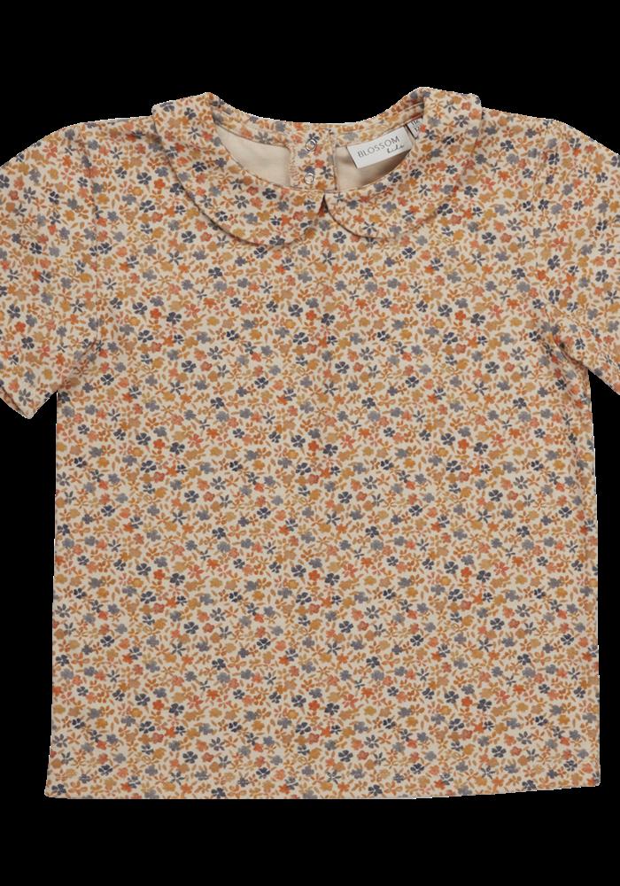 Blossom Kids Peterpan shirt short sleeve Aquarel Flower