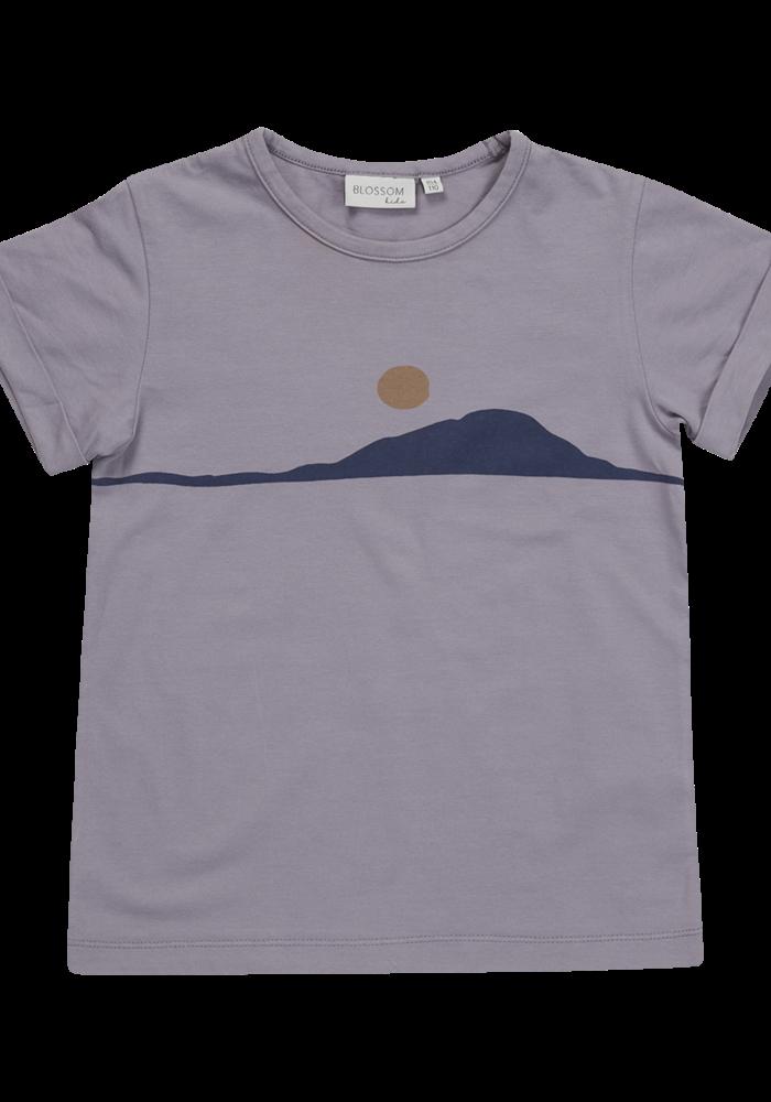 Blossom Kids T-Shirt Sunset Lilac Grey