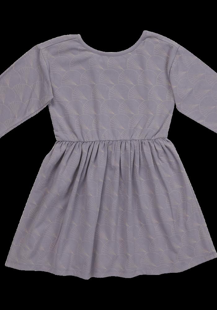 Blossom Kids Dress half sleeve Shelves Lavender Gray