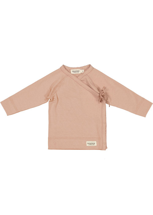 MarMar MarMar Tut Wrap LS Modal Smooth Solid T-Shirt Rose Sand