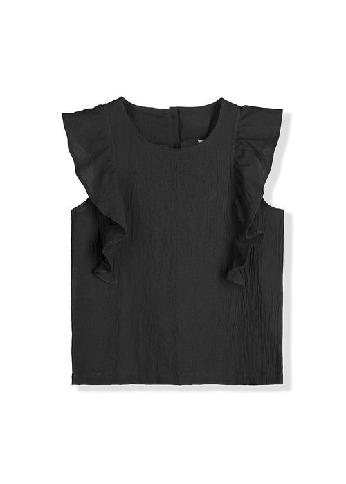 Kids on the Moon Kids on the Moon Noir Ruffle Top