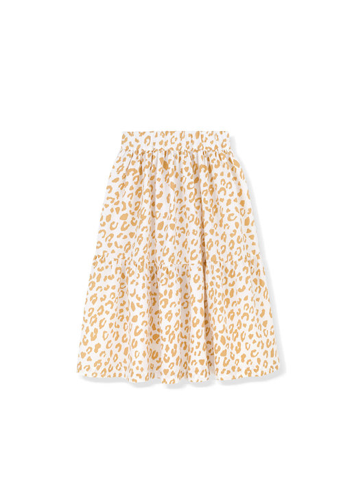 Kids on the Moon Kids on the Moon Golden Leopard Cascade Skirt