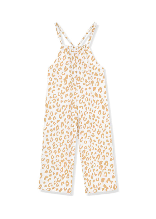 Kids on the Moon Kids on the Moon Golden Leopard Jumpsuit