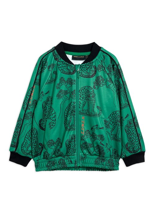 Mini Rodini Mini Rodini Tigers wct Jacket Green
