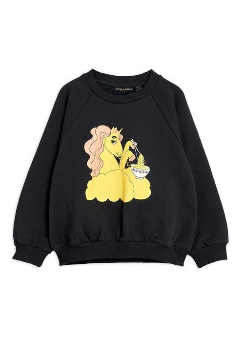 Mini Rodini Mini Rodini Unicorn Noodles sp Sweatshirt Black