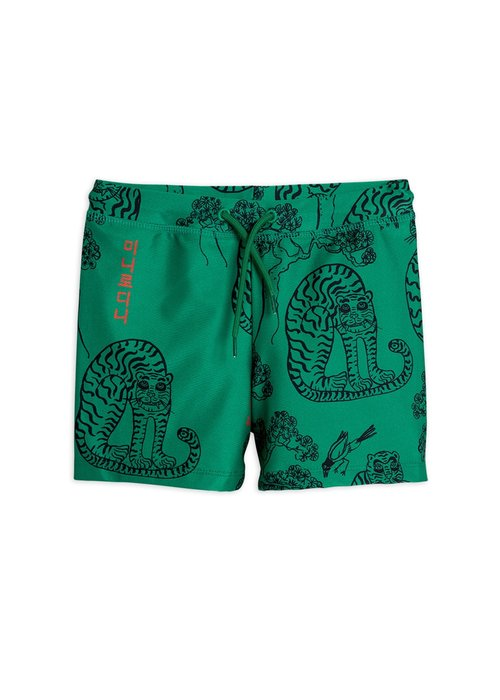 Mini Rodini Mini Rodini Tigers Swim Pants Green