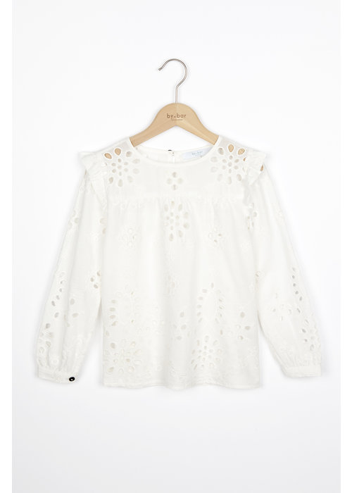 BY-BAR BY-BAR Mila Blouse Embroidery off white