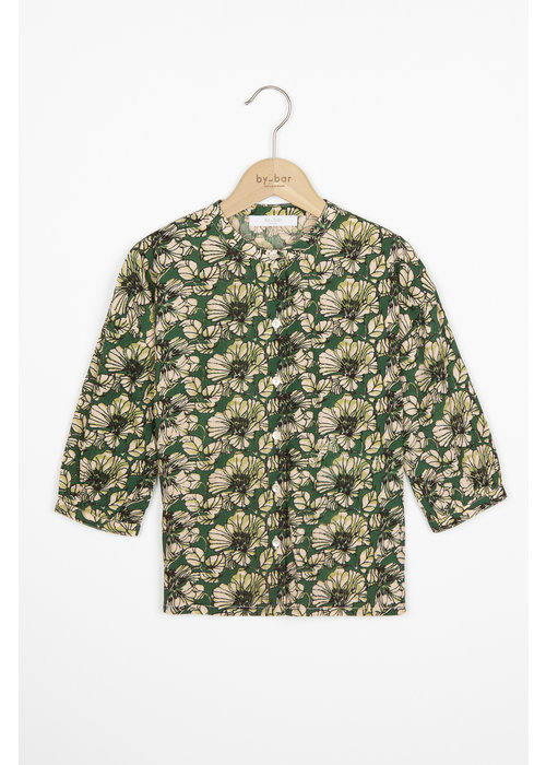 BY-BAR BY-BAR Cecile Tropico Blouse Evergreen