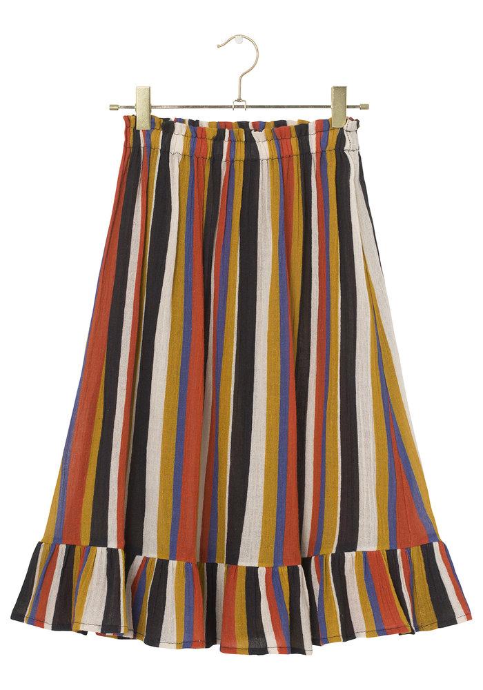 A Monday in Copenhagen Fabie Skirt Summer Fig Stripe