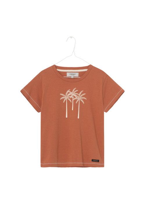 A Monday in Copenhagen A Monday in Copenhagen Palm T-shirt Rust