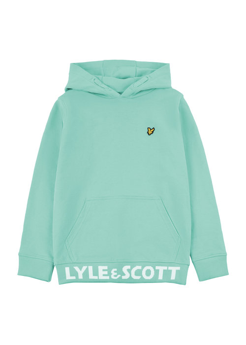 Lyle & Scott Lyle & Scott Bottom Branded LB OTH Hoodie Neptune Green