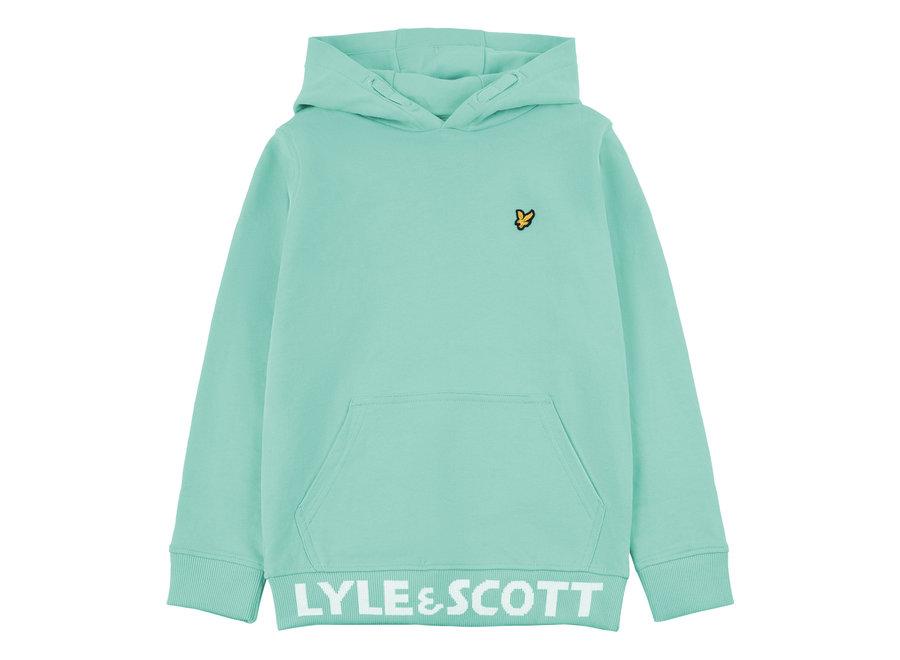 Lyle & Scott Bottom Branded LB OTH Hoodie Neptune Green