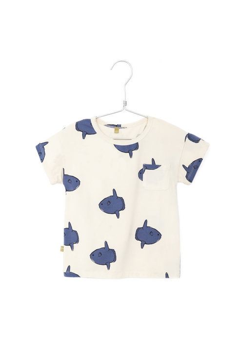 Lötiekids Lötiekids Tshirt Short Sleeve Moonfishes Off White