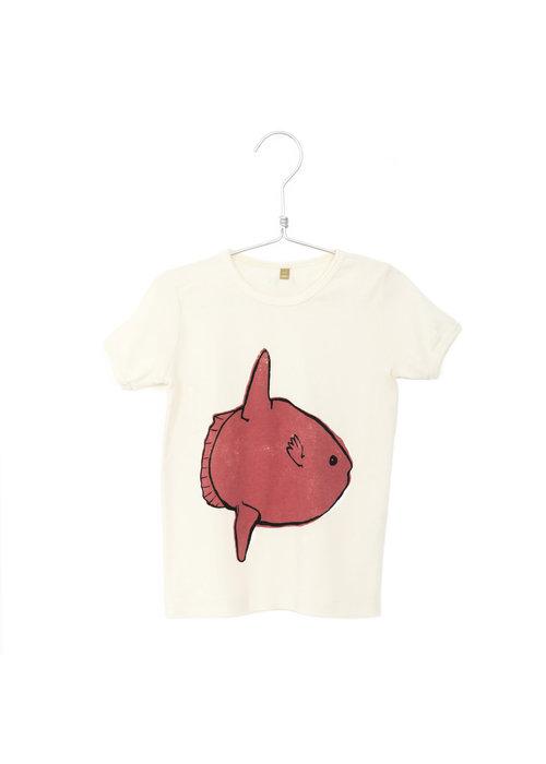 Lötiekids Lötiekids Retro Tee Moonfish Off White
