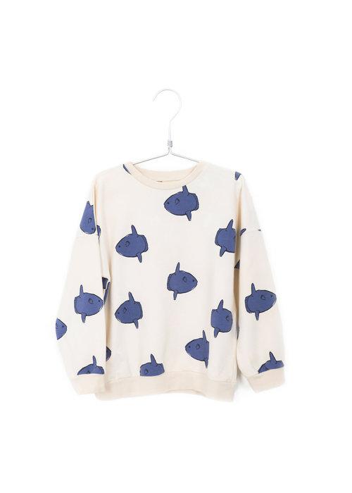 Lötiekids Lötiekids Sweatshirt Moonfish Off White